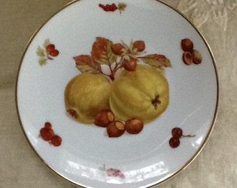 "Autumn Mitterteich ""Debra"" Yellow Apple Plate-Germany"