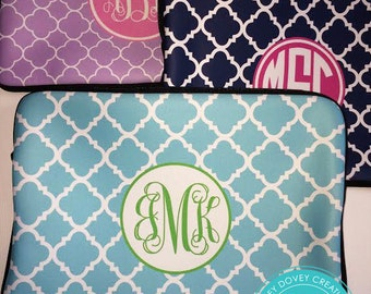Personalized Laptop Sleeve - Design your Own Laptop Case - Monogram MacBook Sleeve - Monogrammed  Laptop Case