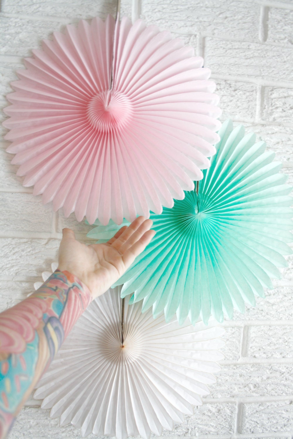Party Decor Paper Fans Pick Your Colors Weddings