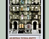Led Zeppelin Poster . Physical Graffiti Promo No.1. Large A2 ( 40 x 60 cm ) Print