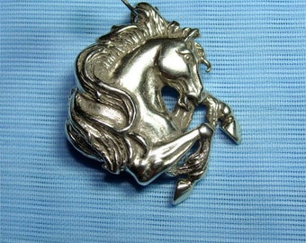 Wild Mustang HORSE Pendant in STERLING SILVER