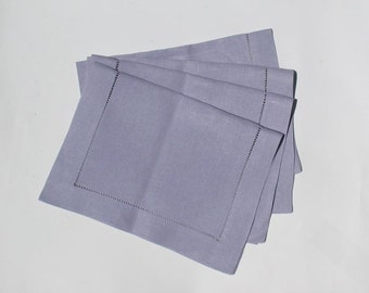 Set of (4) Four- Vintage- Italian-Lilac - Breakfast Table-  AllLinen -Placemats