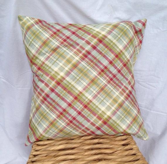 16x16 Throw Pillow Cover Plaid