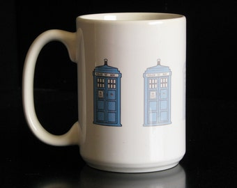 Dr. Who Disappearing Tardis 15 oz. Coffee Mug
