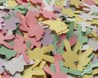 Easter Bunny Confetti Pack: 200 Paper Card Stock Confetti pieces, Easter Baskets, Easter Brunch confetti