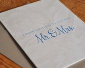 Lace Blue Wedding Card