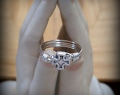 Silver Plated Cross Ring