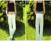white denim, straight leg, CARGO pants, White Painter's pants,  Sailor Chic, Small