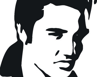 Elvis Face Black And White