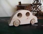 Toy VW Bug Car Created from Reclaimed Wood for the Kids, Children Fun