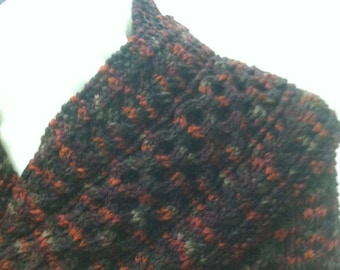 Classic Knitted Aran Scarf in Autumn Maple Falls Quiltsy Handmade