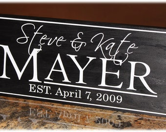 Personalized Custom Engraved Wood Name Sign