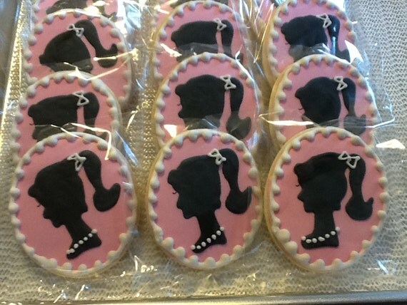 Barbie sugar cookie party favors
