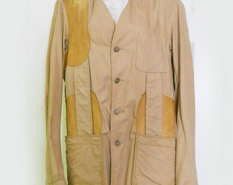 Men's Rare Vintage Safari Jacket by Masland - As Is - 1940s Hunting Jacket
