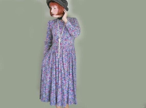 laura ashley robe vintage th longueur robe 80 s v tements. Black Bedroom Furniture Sets. Home Design Ideas