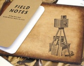 Field Notes Leather Cover - Vintage Camera - Customizable - Free Personalization