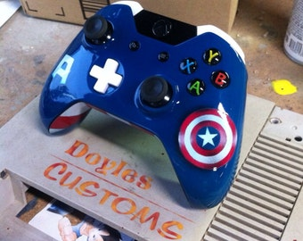 Captain America themed xbox one controller
