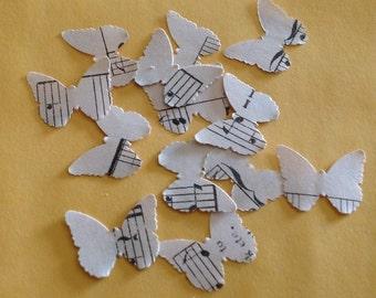 500 Wedding Confetti Music Die Cut Butterly Confetti Scrapbooking Wedding Supply Cupcake Topper