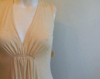 vintage. ELVintage Wedding Shop 1970s Miss Magnin Cream Jersey Maxi Dress  // S to L // Deadstock