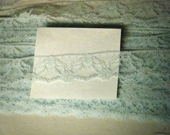 LACE FLAT TRIM 2 yards Scalloped Light Mint Green  Polyester 016