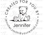 Personalized Custom Stamp - Created for You by Bear - PK312