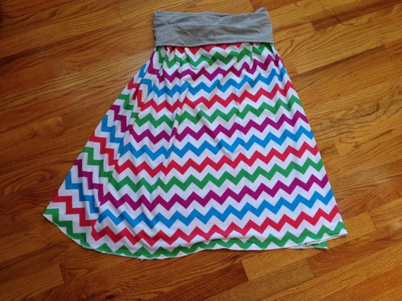 Maxi Skirt (Fold Over Yoga Waist )  - Custom