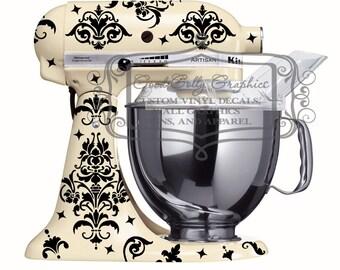 Damask kitchen mixer decal set 40+  pieces