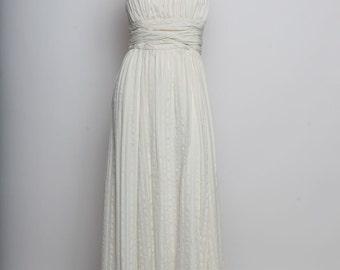 Women's white strapless dress