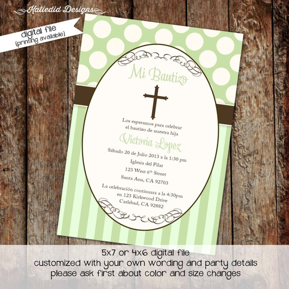 first communion invitation spanish christening baptism. Black Bedroom Furniture Sets. Home Design Ideas