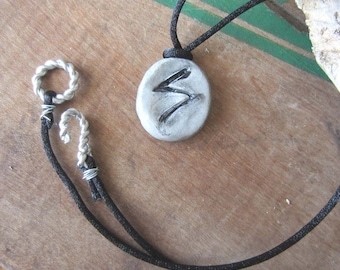 rune necklace SOWIILO runes pendant unisex one of a kind wicca wiccan jewelry pagan rune stones spell magick amulet viking lucky charm