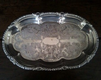 Vintage English Small Fancy Serving Lap Drinks Tray Trivet Stand Table Protector circa 1950's / English Shop