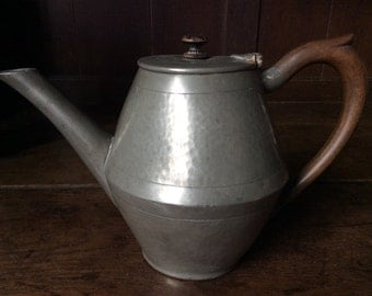 Vintage English pewter tea pot circa 1940's / English Shop