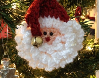 Crochet Santa Pattern- Easy and Fast-Use as a Pin or package tie on too