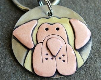 Large Dog Tag - XL Dog ID Tag - Pet Tag - Custom dog tag- Mastiff dog tag or key chain