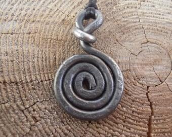 Iron Gotland Spiral Viking Amulet MADE TO ORDER