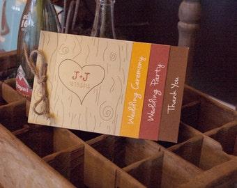 Booklet, customized wedding program, lot of 25