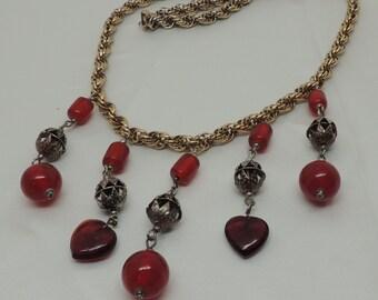 Goth Style Bib Necklace of Vintage Parts