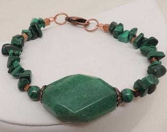 Malachite and Copper Bracelet