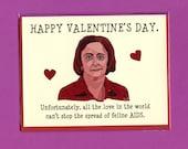 DEBBIE DOWNER VALENTINE - Funny Valentine Card - Debbie Downer - Debbie Downer Card - Rachel Dratch - Original Art - Funny Valentine's Day