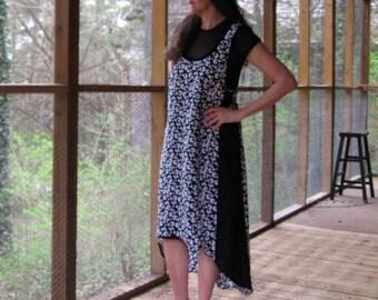 CUSTOM Racer Back Dress, colorblock, high low hemline, lined dress or jumper