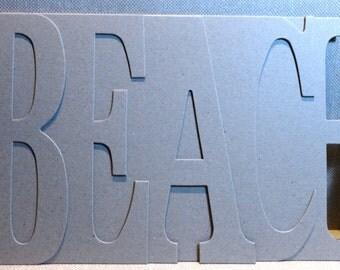 BEACH Chipboard Album 5.5 high x 12 inches long