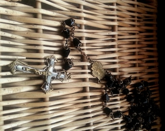 Antique jet-like French Rosary