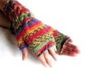 Knit Fingerless gloves | Knitted  Mittens | Arm Warmers | Hand Warmers | Boho Glove | Wrist Warmers |Multicolored Gloves