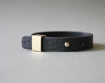 Luxury Style Soft Leather Bracelet(Black)