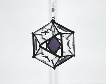 3 Inch Mini Orb with  Purple Accent