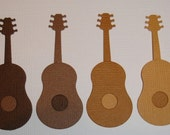 8 Guitar Die Cuts for Scrapbooking Cards and Paper Crafts Embellishment Acoustic Music Band