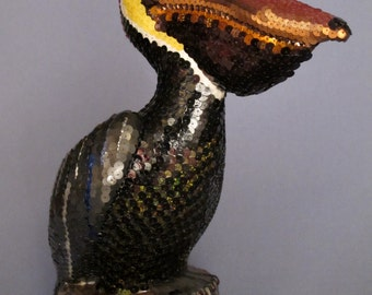 Sequin Covered Don Featherstone Pelican Lawn Ornament