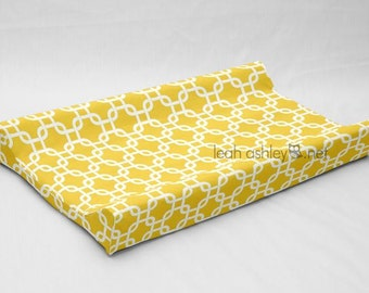 Contour Changing Pad Cover - Corn Yellow, White Square - Hayden, Reese - CP1