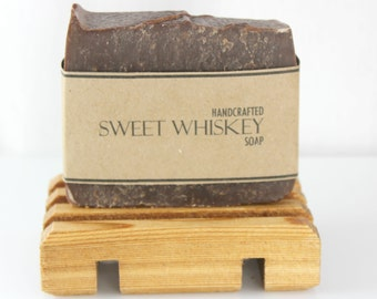 Sweet Whiskey Soap, Cold Process, Vegan Friendly Olive Oil Soap