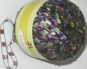 Sparkly Trail Ladder Trellis Yarn col 731 Olive Lavender multi